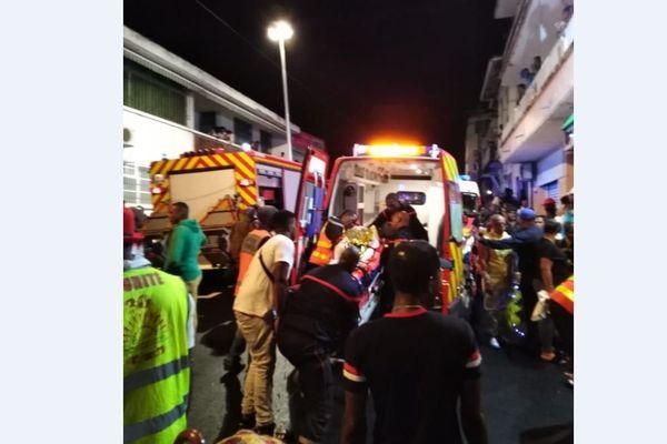 Intervention des Pompiers après l'accident du lundi gras
