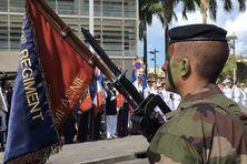 Cérémonie du 14 juillet sur le boulevard du général De Gaulle à Fort-de-France (14 juillet 2016)