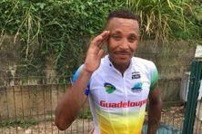 Le coureur Boris Carène, de la sélection de Guadeloupe.