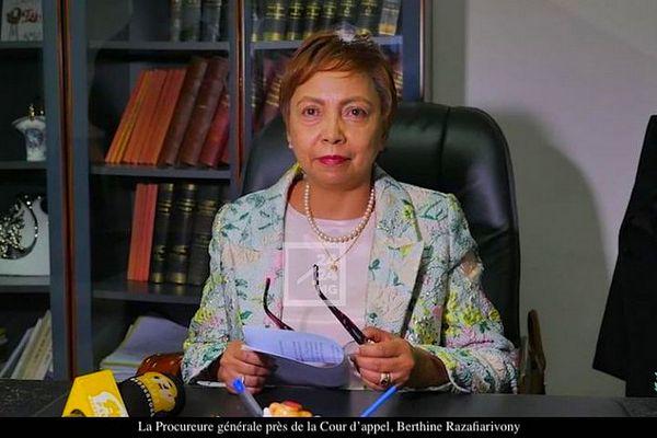 La procureure générale de la Cour d'appel, Berthine Razafiarivony