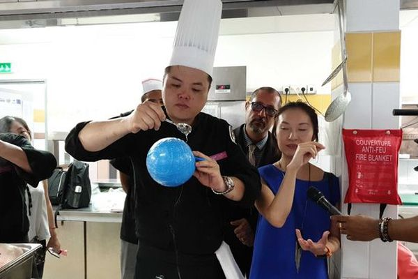 Démonstration des cusiniers Chinois de Tianjin mai 2019