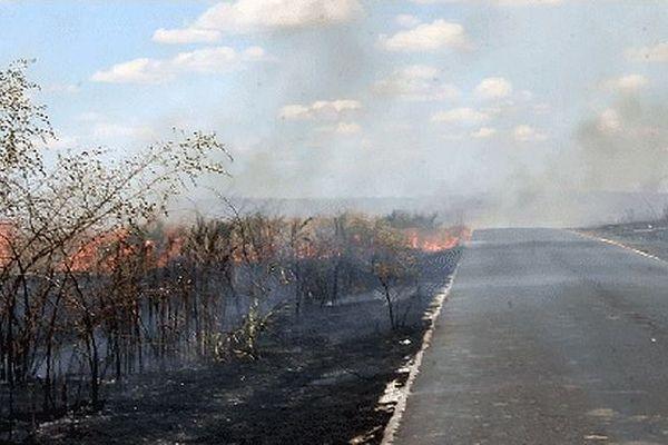 Incendie à Madagascar