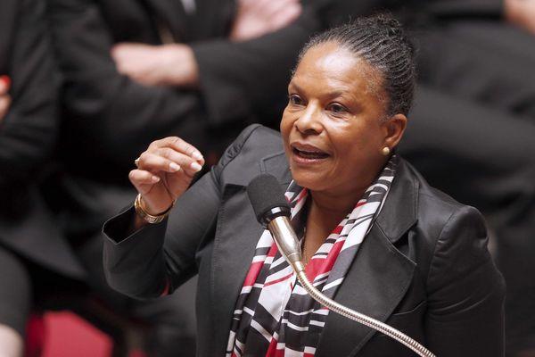 Réforme pénale : Christiane Taubira à l'Assemblée le 3 juin 2014 lors de la présentation du projet de loi.
