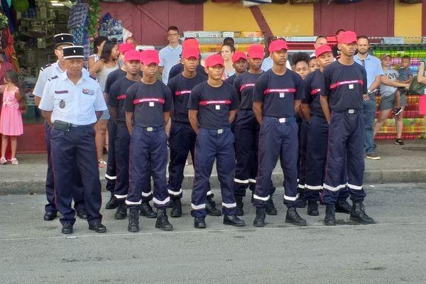 Les jeunes sapeurs pompiers volontaires 8 mai 2019