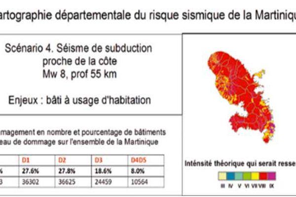 Cartographie du risque sismique de la Martinique