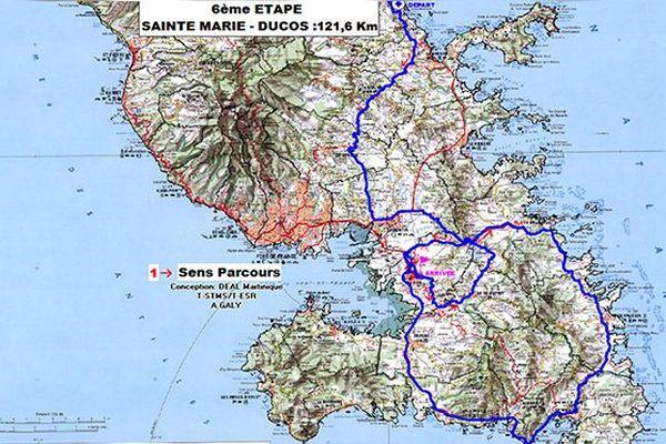 Tour cycliste de Martinique : l'étape du jour Sainte-Marie - Ducos