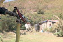 Le robinet d'eau dans le squat de Nouville