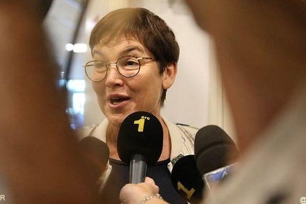 Annick Girardin en visite à La Réunion.