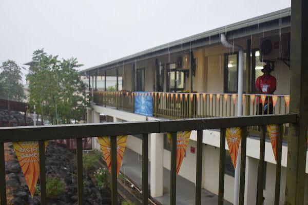 Samoa 2019, pluie avant l'ouverture de la cérémonie