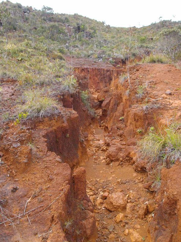 Ruissellement et ravinement dans le Sud