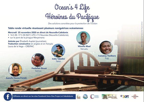 Conférence Ocean's 4 Life. Héroïnes du Pacifique