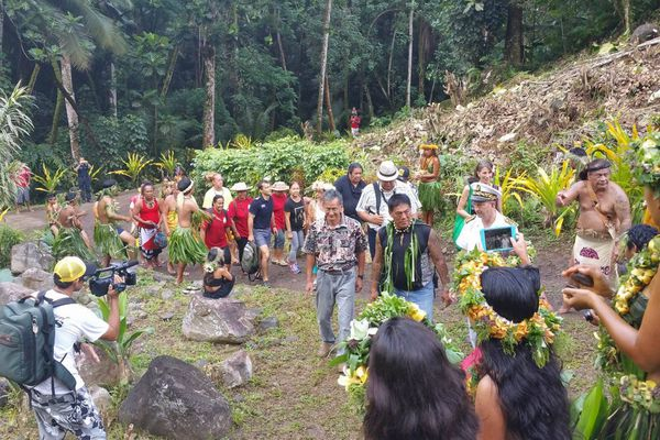 Accueil à Puamau - Festival des arts des îles Marquises