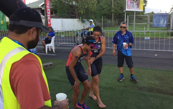 Samoa 2019, Charlott Robin et Nathalie Viratelle au triathlon