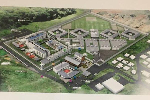 Maquette du projet d'extension du centre pénitentiaire de Fond Sarail