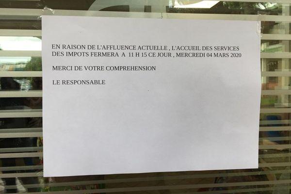 Annonce aux impôts de Cluny