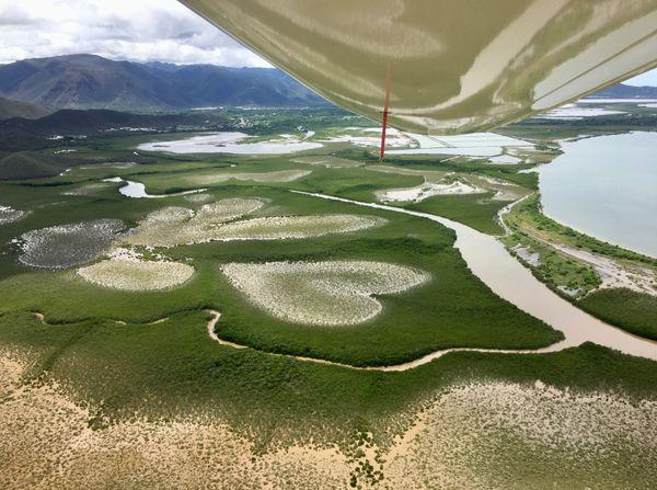 Coeur et mangrove de Voh vus d'ULM, janvier 2021