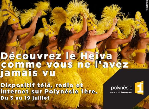 Dossier de presse dispositif Heiva 2014 sur Polynésie 1ère TV, radio, internet photo