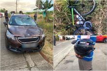 Mickaël Laurent blessé après avoir été renversé par une voiture sur la route du François.
