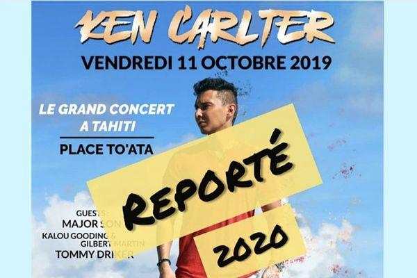 Ken Carlter : son concert reporté