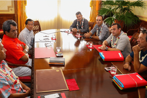 Le nouveau bureau de la CGPME reçu par le président de la Polynésie française