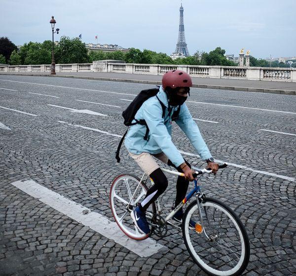 Vélo à Paris en période de confinement