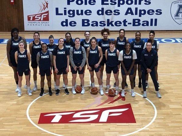 L'équipe de France de basket des moins de 20 ans.