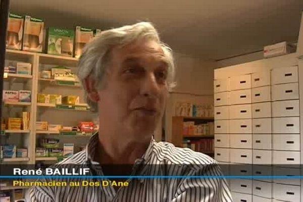 René Baillif, pharmacien au Dos D'ane