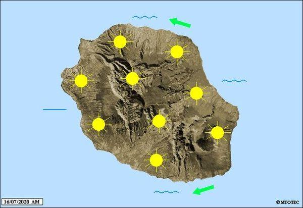 Carte météo 16 juillet 2020