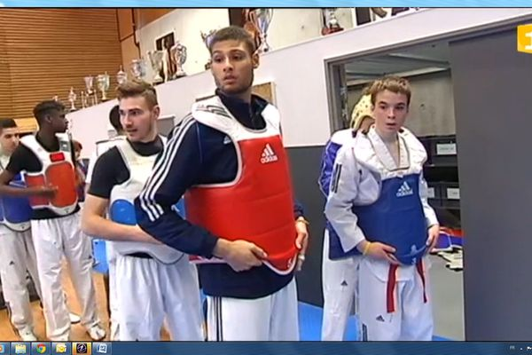 Guillaume Kerhoas parmi les athlètes de l'INSEP