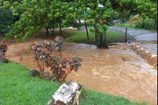 Inondation sur les routes du sud Martinique (1er novembre 2020).