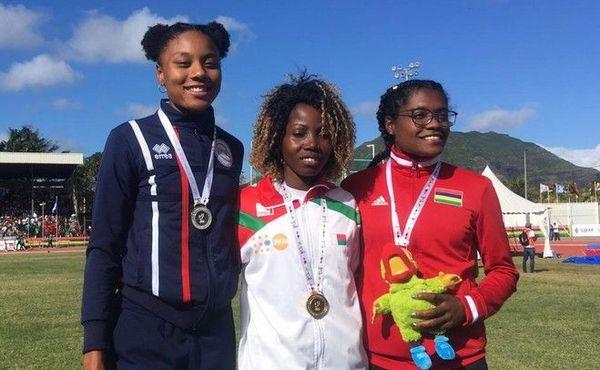 JIOI 2019 Athlétisme médaille d'argent pour Léa Mithra au 400m haies 230719