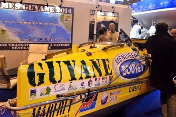 Le stand de Rames Guyane au Salon nautique international de Paris (8-16 décembre 2012)