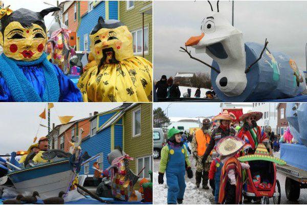 Olaf, l'ami de la reine des neiges en tête du défilé du carnaval à Saint-Pierre
