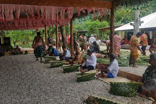 repas pour la semaine des communions à Futuna