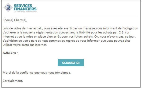 OPT mail frauduleux