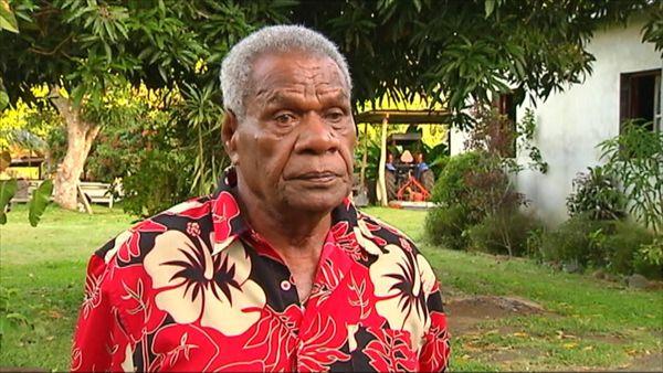 Emmanuel Aman Tein, grand chef de l'île Ouen, en 2015