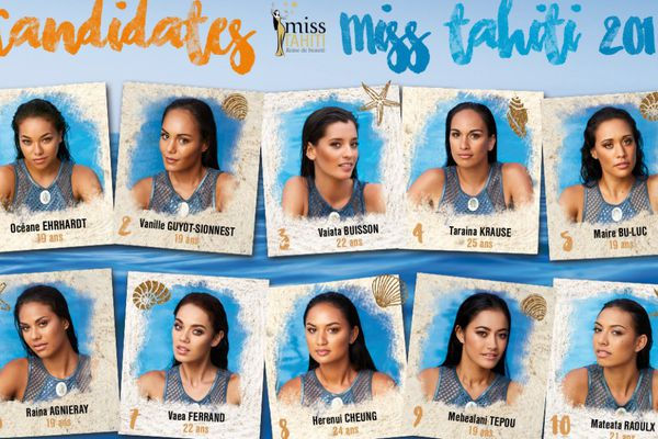 Les 10 candidates à Miss Tahiti
