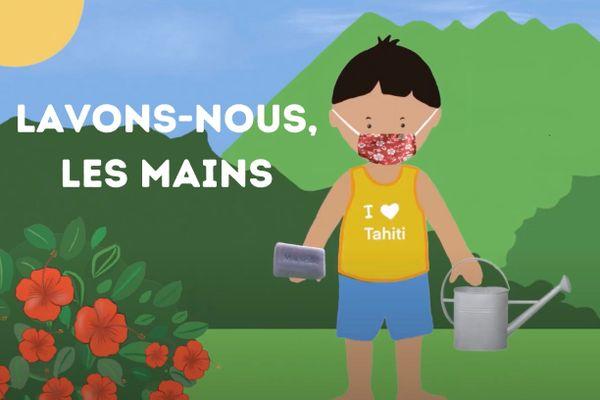 Les enfants se lavent les mains… en chanson, avec Comptineurs de Tahiti