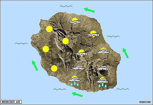 Carte météo 8 juin 2021