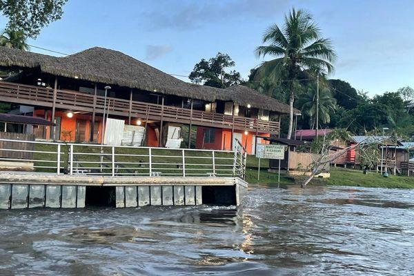 Décrue de la rivière Camopi