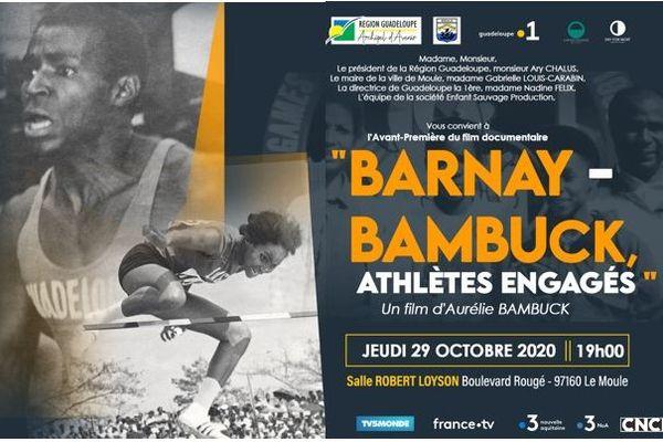 "Affiche du film documentaire ""Barnay-Bambuck"""