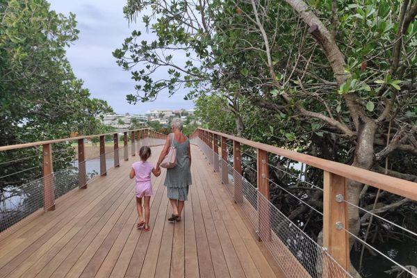 Une passerelle pour rejoindre l'île de Sainte-Marie, un nouveau lieu de promenade