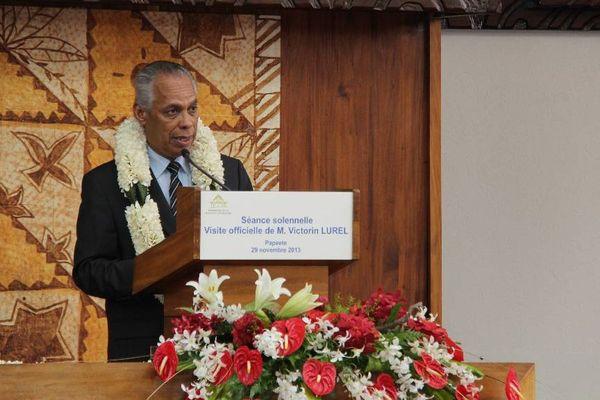 Victorin Lurel à l'Assemblée de la Polynésie franaçaise