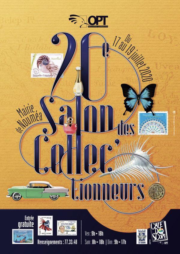 Affiche du 20e Salon des collectionneurs