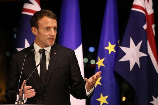 Macron Australie