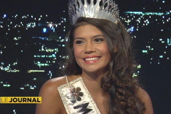 Vaimiti Teiefitu, Miss Tahiti 2015,  prépare Miss France
