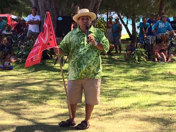 Fernand Tahiata, le maire de Tubuai