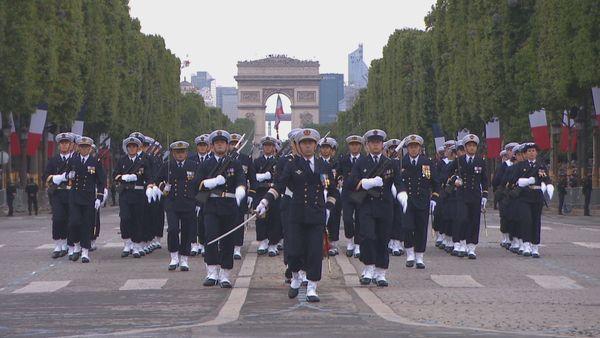 14 juillet : Muihere, Heimana et Brad ont défilé sur les Champs-Elysées