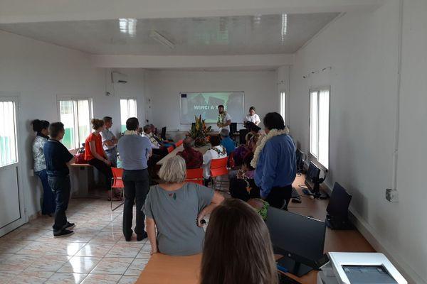 Inauguration salle e-learning