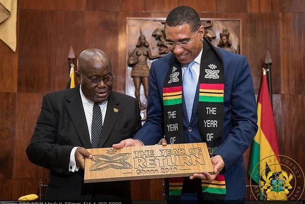 Jamaïque visite du président de Ghana